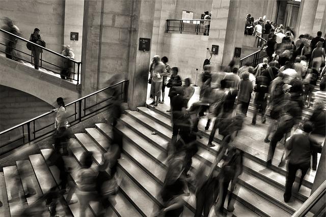 dav na schodech